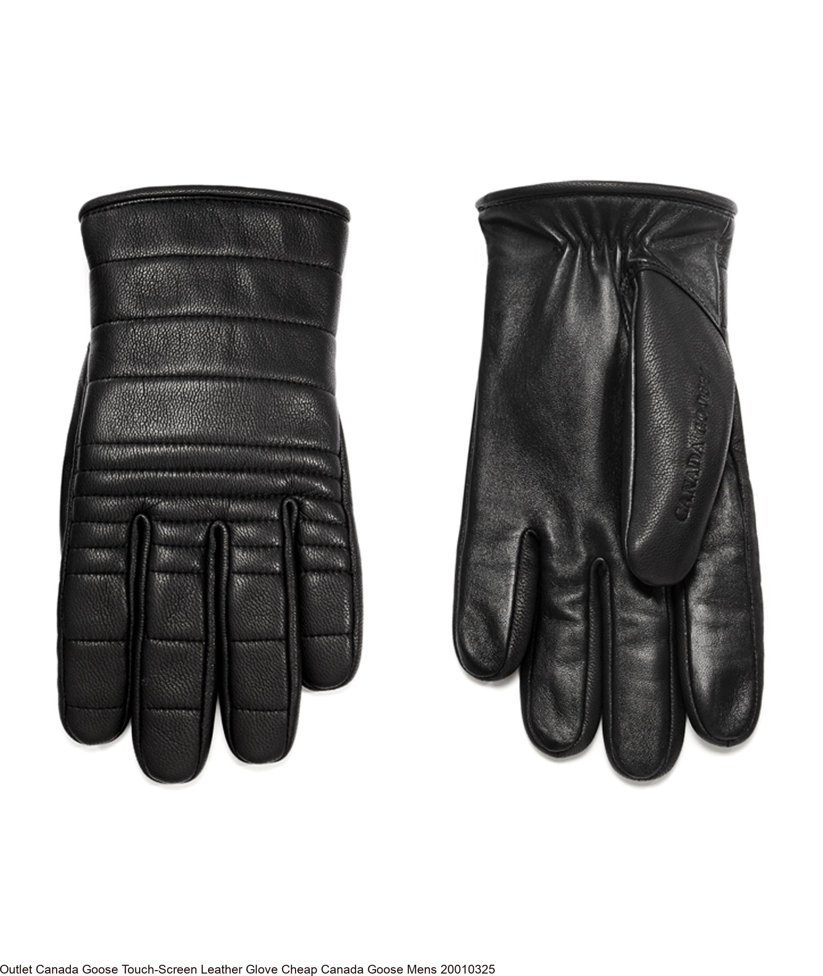 Outlet Canada Goose Touch Screen Leather Glove Cheap Canada Goose Mens 20010325