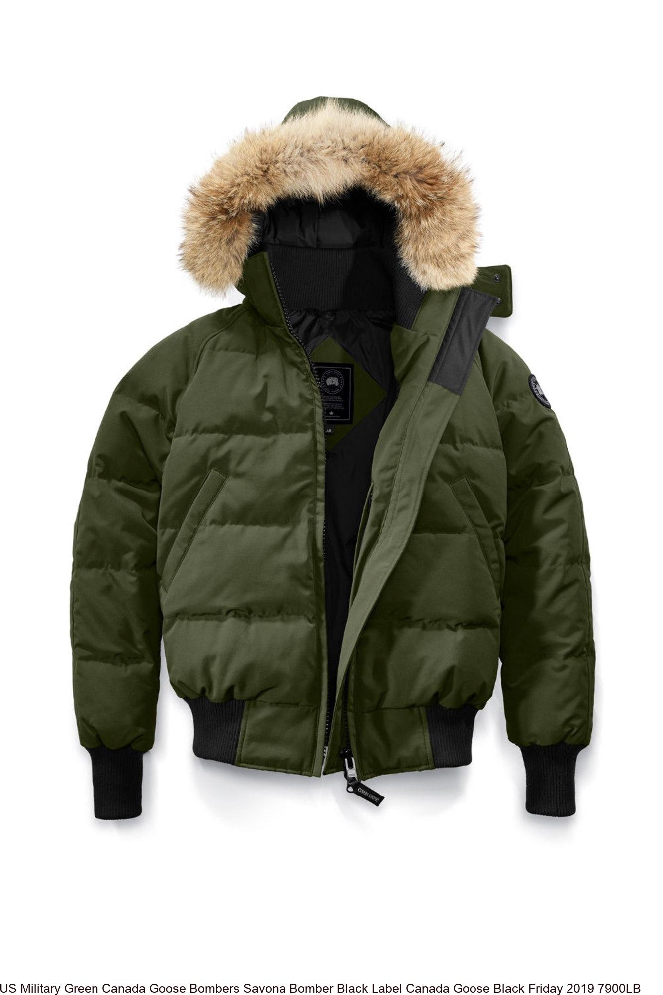 80a9db279 US Military Green Canada Goose Bombers Savona Bomber Black Label Canada  Goose Black Friday 2019 7900LB